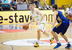 Aleksej Nikolic of Slovenia during friendly basketball match between National teams of Slovenia and Ukraine at day 3 of Adecco Cup 2014, on July 26, 2014 in Rogaska Slatina, Slovenia. Photo by Vid Ponikvar / Sportida.com