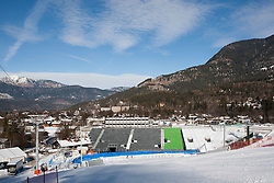 03.02.2011, Garmisch Partenkirchen, GER, FIS Alpine World Championships Garmisch Partenkirchen, Vorberichte, im Bild Preview images for the 2011 Alpine skiing World Championships. A general view of the finish are and stadium for the slalom races, EXPA Pictures © 2011, PhotoCredit: EXPA/ M. Gunn