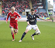 Dundee's Alex Harris and Aberdeen&rsquo;s Willo Flood - Dundee v Aberdeen, SPFL Premiership at Dens Park<br /> <br />  - &copy; David Young - www.davidyoungphoto.co.uk - email: davidyoungphoto@gmail.com