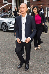 © Licensed to London News Pictures. 17/09/2016. JIMMY CHOO arrives for the JULIEN MACDONALD Spring/Summer 2017 show. Models, buyers, celebrities and the stylish descend upon London Fashion Week for the Spring/Summer 2017 clothes collection shows. London, UK. Photo credit: Ray Tang/LNP