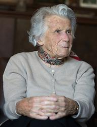 14.03.2018, Innsbruck, AUT, Elsa Roilo, Interviewtermin mit der 102 jährigen Zeitzeugin, im Bild Elsa Roilo // during an interview with the 102 year old woman in Innsbruck, Austria on 2018/03/14. EXPA Pictures © 2018, PhotoCredit: EXPA/ Jakob Gruber