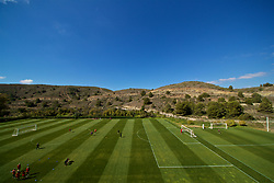 ALHAURÍN EL GRANDE, SPAIN - Tuesday, February 26, 2019: Wales players during a training session at the at Alhaurin Golf Resort in Spain. (Pic by David Rawcliffe/Propaganda)