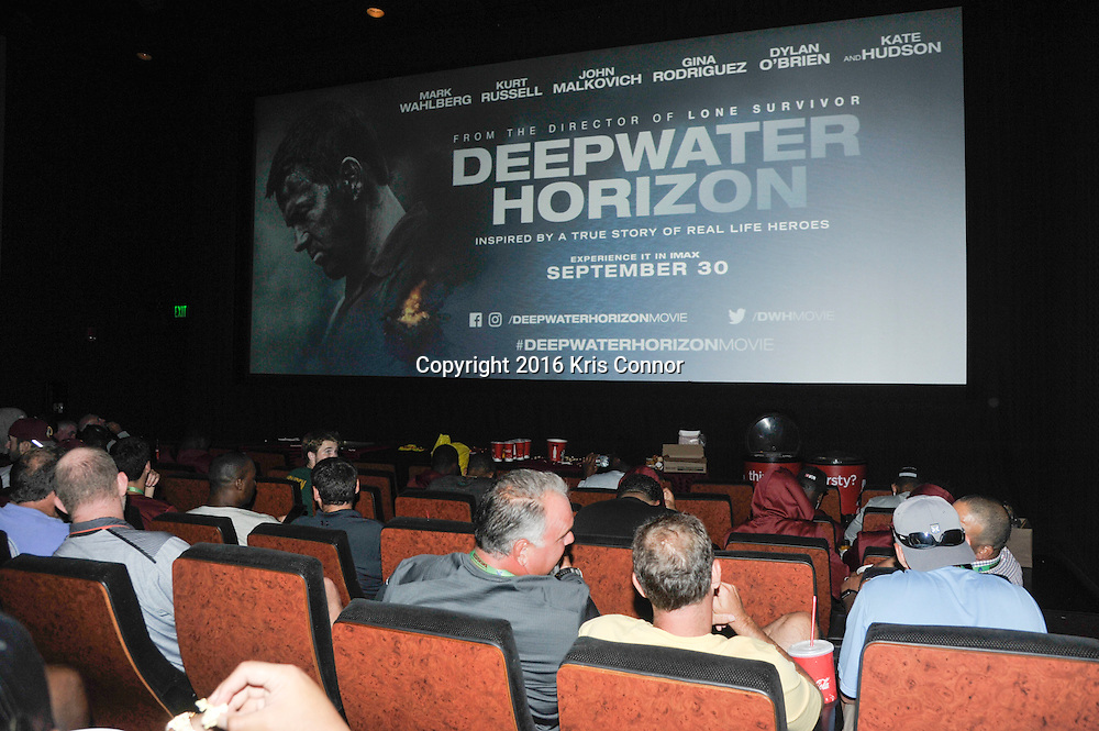RICHMOND, VA - AUG 13:  Football players from the Washington Redskins attend a special screening of Lions Gate Entertainment's new movie Deepwater Horizon at Bow Tie Cinema on August 13, 2016 in Richmond, Va. (Photo by Kris Connor for Lions gate Entertainment)