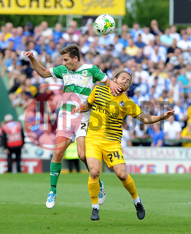Stuart Sinclair - Mandatory byline: Neil Brookman/JMP - 07966386802 - 15/08/2015 - FOOTBALL - Huish Park -Yeovil,England - Yeovi Town v Bristol Rovers - Sky Bet League One