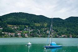 ROTTACH-EGERN, GERMANY - Tuesday, July 25, 2017: Boats on Lake Tegernsee in Rottach-Egern, the base for Liverpool's preseason training camp in Germany. (Pic by David Rawcliffe/Propaganda)