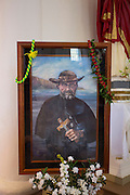 Father Damien, St. Francis Church, Kalaupapa Town, Kalaupapa Peninsula, Molokai, Hawaii