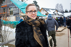 Mateja, girlfriend of Jakov Fak during Presentation of new house of Jakov Fak, made by Lumar, on February 26, 2018 in Lesce, Lesce, Slovenia. Photo by Ziga Zupan / Sportida