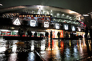 The Emirates Stadium, London, home of Arsenal Football Club before the UEFA Champions League match against Borussia Dortmund.<br /> Picture by Richard Calver/Focus Images Ltd +447792 981244<br /> 26/11/2014