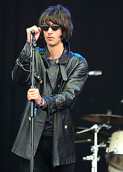 © licensed to London News Pictures. LONDON UK  03/07/11.The Horrors perform  at Day 3 of the Wireless Festival in Hyde Park London saw thousands of music fans enjoying the sunshine and the music . Please see special instructions for usage rates. Photo credit should read ALAN ROXBOROUGH/LNP