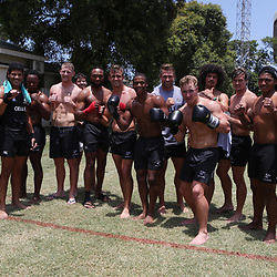 General views during the cell c sharks backs boxing pre season training session at  Growthpoint Kings Park ,18,01,2018 Photo by Steve Haag)