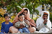 Pakistani family in mountain village of Altit in Hunza region of Karokoram Mountains, Pakistan