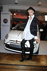 Model AGYNESS DEYN at a party to celebrate the launch of the new Fiat 500 car held at the London Eye, Westminster Bridge Road, London on 21st January 2008.<br />