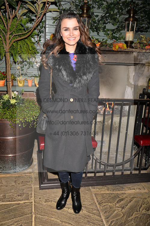 Samantha Barks at The Ivy Chelsea Garden's Guy Fawkes Party, 197 King's Road, London, England. 05 November 2017.