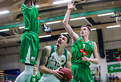 13# Ziga Fifolt of KK Krka Novo mesto, during the basketball match of Nova KBM League between KK Petrol Olimpija Ljubljana and KK Krka Novo mesto, on February 27, 2019, in Novo mesto, Slovenia. Photo by Urban Meglic / Sportida
