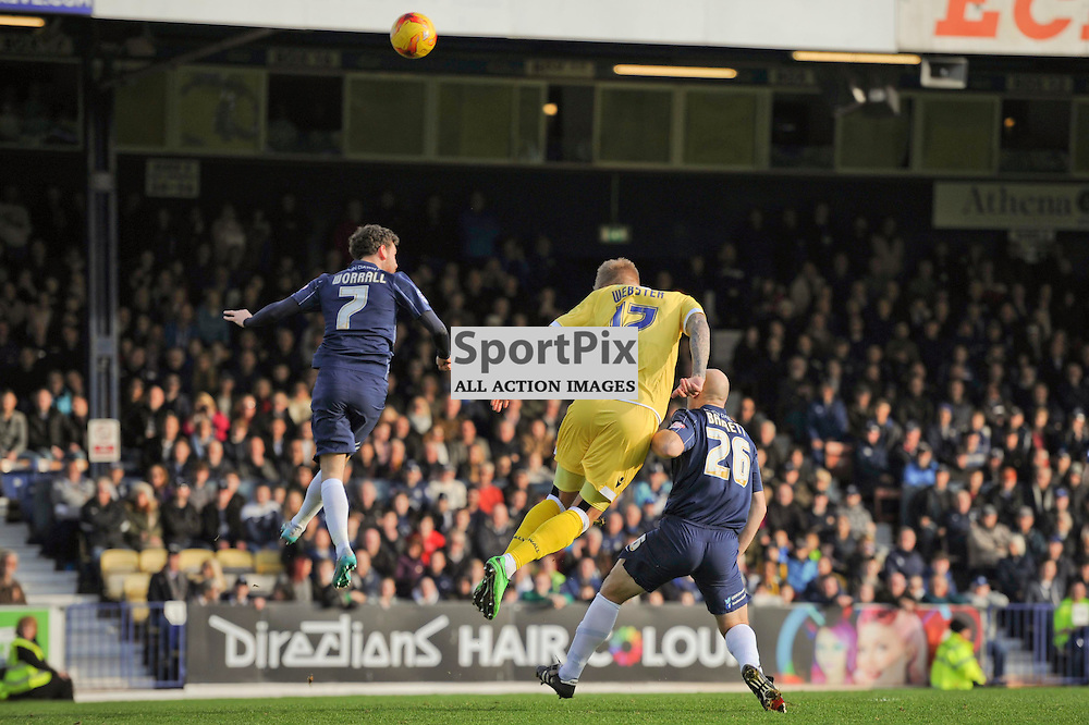Millwalls Bryon Webster in action during the Southend v Millwall game in the Sky Bet League 1 on the 28th December 2015.