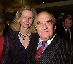 LORD & LADY WEIDENFELD OF CHELSEA, at a party in London on 15th November 2000.OJD 48