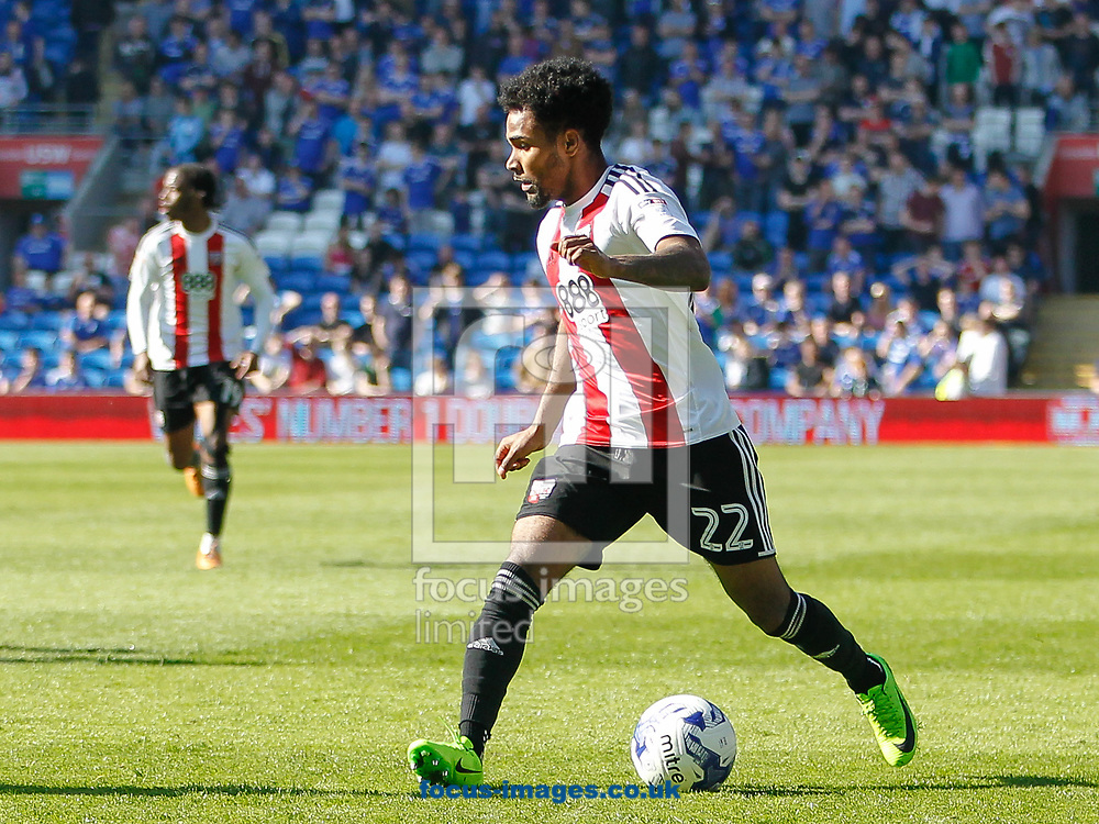 Rico Henry of Brentford during the Sky Bet Championship match between Cardiff City and Brentford at the Cardiff City Stadium, Cardiff<br /> Picture by Mark D Fuller/Focus Images Ltd +44 7774 216216<br /> 08/04/2017