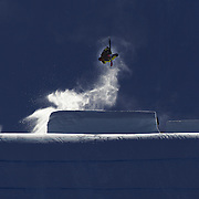 Vincent Gagnier, Canada, in action in the Slopestyle Finals during The North Face Freeski Open at Snow Park, Wanaka, New Zealand, 2nd September 2011. Photo Tim Clayton..