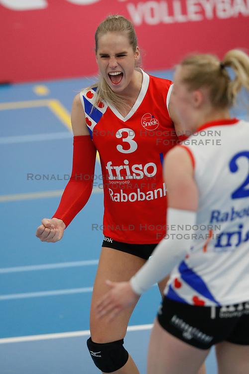 20190424 NED: Sliedrecht Sport - VC Sneek: Sliedrecht<br /> Anlene van der Meer (3) of VC Sneek<br /> ©2019-FotoHoogendoorn.nl / Pim Waslander