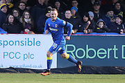 AFC Wimbledon midfielder Dean Parrett (18) scores a goal 1-1 during the EFL Sky Bet League 1 match between AFC Wimbledon and Oxford United at the Cherry Red Records Stadium, Kingston, England on 14 January 2017. Photo by Stuart Butcher.