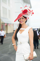 31/07/2014 Repro Free Eilish Milliner from West Cork  at the Anthony Ryans Best Dressed Ladies day  at the Galway Races Summer Festival <br />  .Photo:Andrew Downes
