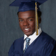 Derrick Butler/cap and gown