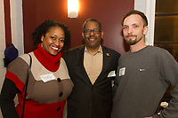 The Hyde Park Chamber of Commerce held its monthly Chamber Check In meeting this past Thursday at 5540 S. Hyde Park Blvd. The Chamber Check In, formerly known as the First Thursday allows business owners in the neighborhood to network and socialize. Meetings are held at various locations on the first Thursday of each month.<br /> <br /> 0099 &ndash; Hyde Park Chamber of Commerce members, Talayah Stovall, Bennie Currie and Greg Fairbanks.<br /> <br /> Please 'Like' &quot;Spencer Bibbs Photography&quot; on Facebook.<br /> <br /> All rights to this photo are owned by Spencer Bibbs of Spencer Bibbs Photography and may only be used in any way shape or form, whole or in part with written permission by the owner of the photo, Spencer Bibbs.<br /> <br /> For all of your photography needs, please contact Spencer Bibbs at 773-895-4744. I can also be reached in the following ways:<br /> <br /> Website &ndash; www.spbdigitalconcepts.photoshelter.com<br /> <br /> Text - Text &ldquo;Spencer Bibbs&rdquo; to 72727<br /> <br /> Email &ndash; spencerbibbsphotography@yahoo.com