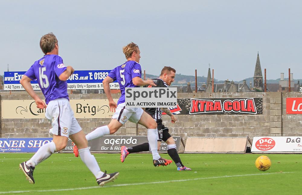 East Fife V Elgin Scottish League Two 22 August 2015;  Elgin's Craig Gunn equalises during the East Fife V Elgin Scottish League Two match played at Bayview Stadium, Methill.