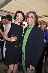 THOMASINA MIERS and GIORGIO LOCATELLI at a party to celebrate the publication on 'Let's Eat: Recipes From My Kitchen Notebook' by Tom Parker Bowles held at Selfridge's Rooftop. Selfridge's, Oxford Street, London on 27th June 2012.