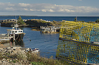 Fisherman shacks and docks, Blue Rocks Nova Scotia