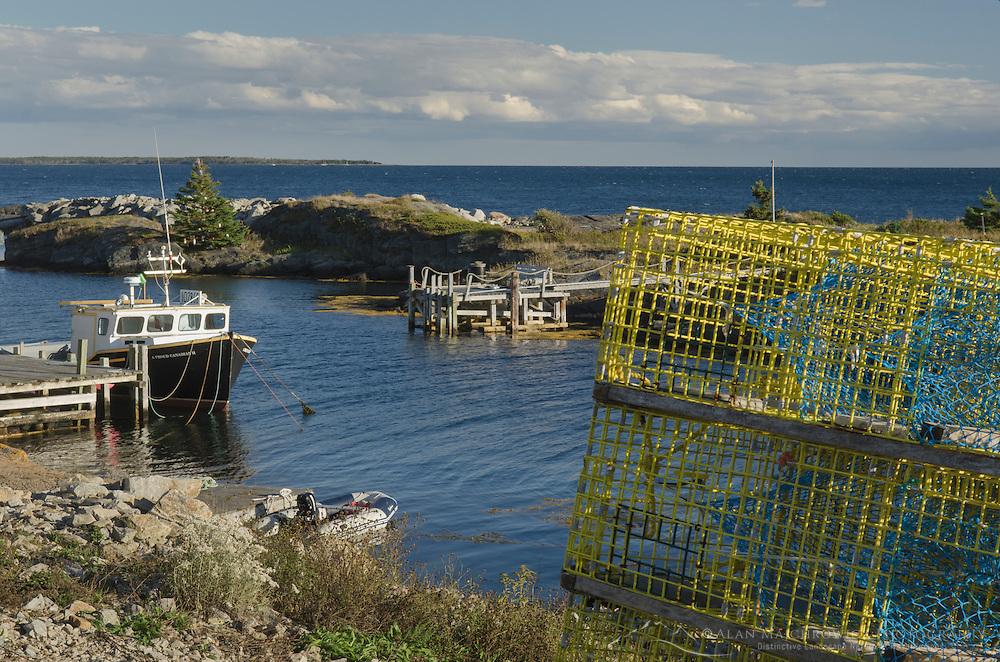 Fisherman shacks and docks, Blue Rocks Nova Scotia