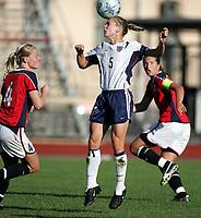 Fotball, 26. juli 2005, U21 damer, Åpent nordisk mesterskap, finale, Norge- USA 1-4,  Lindsay Tarpley, USA