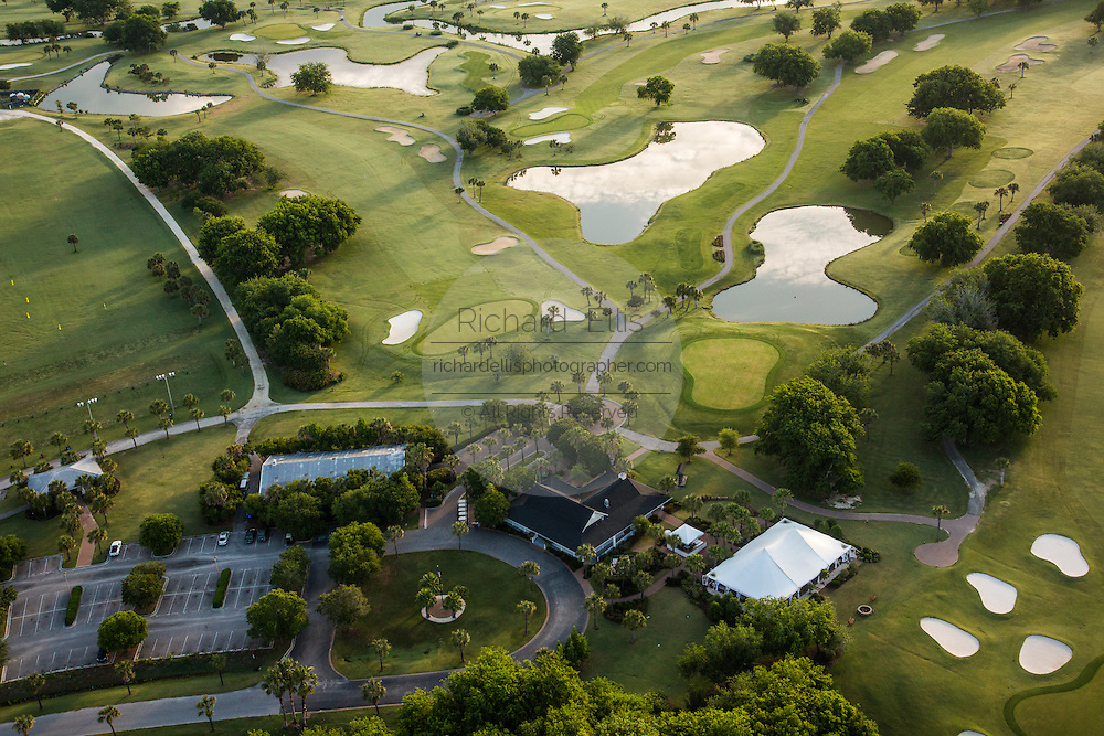 Aerial view of the Patriots Point golf course in Charleston, SC