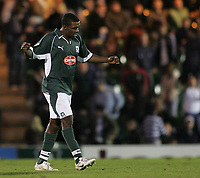 Photo: Lee Earle.<br /> Plymouth Argyle v Hull City. Coca Cola Championship. 09/12/2006. Plymouth's Sylvan Ebanks-Blake celebrates after scoring their first goal.
