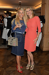 Left to right, BESSY LEMOS and TANIA BRYER at the 3rd annual Gynaecological Cancer Fund Ladies Lunch at Fortnum & Mason, 181 Piccadilly, London on 29th September 2016.