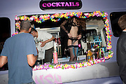 COCKTAIL BAR, Dirty Pretty Things - summer party. Lingerie line hosts  party celebrating its new online shop and showcasing the latest collection. The Lingerie Collective, 8 Ganton Street, Soho. London, 15 June 2011<br /> <br />  , -DO NOT ARCHIVE-© Copyright Photograph by Dafydd Jones. 248 Clapham Rd. London SW9 0PZ. Tel 0207 820 0771. www.dafjones.com.
