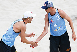 20140606 ITA: EK Beachvolleybal, Cagliari<br /> Alexander Brouwer, Robert Meeuwsen<br /> ©2014-FotoHoogendoorn.nl / Pim Waslander