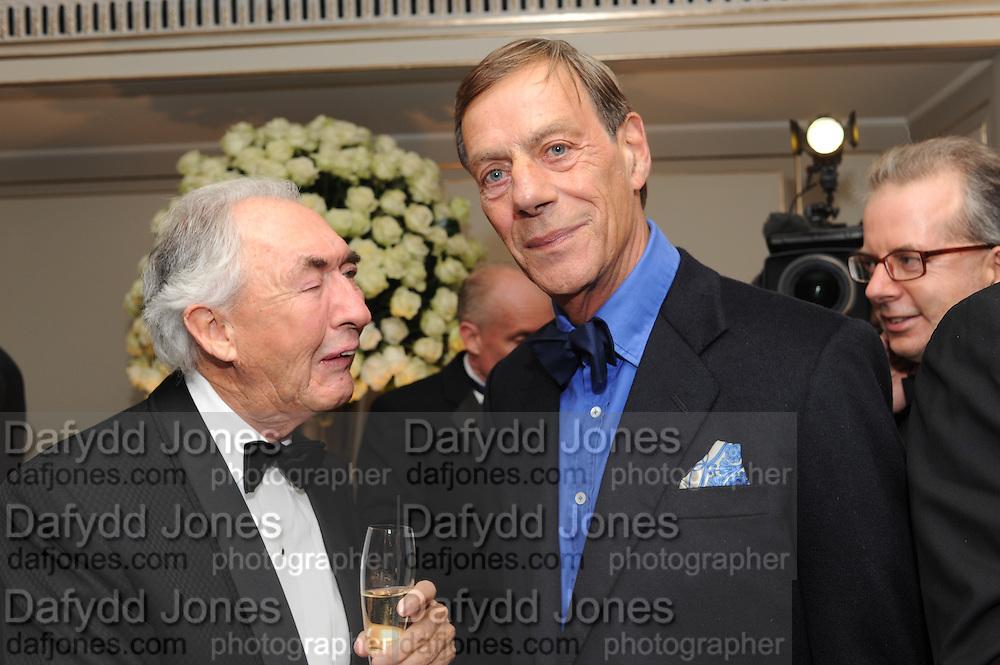 SIR ROBERT OGDEN; SIR HENRY CECIL, The Cartier Racing Awards. The Ballroom, Dorchester hotel. Park Lane. London. 15 November 2011. <br /> <br />  , -DO NOT ARCHIVE-© Copyright Photograph by Dafydd Jones. 248 Clapham Rd. London SW9 0PZ. Tel 0207 820 0771. www.dafjones.com.