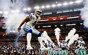during an NFL football game, Sunday, Sept. 10, 2017, in Arlington, Texas. The Cowboys defeated the Giants, 19-3. (Ryan Kang via AP)
