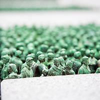 Oslo  20120716.<br /> Kunstverket Grass Roots Square til Do Ho Suh fra S&macr;r-Korea inviterer skuelystne utenfor Helse- og omsorgsdepartementet samt Landbruks- og matdepartementet.<br /> Foto: Tor Erik Schr&macr;der / NTB scanpix