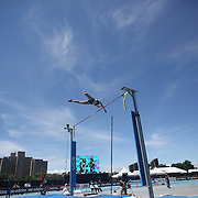 Alyona Lutkovskaya, Russia, in action in the Women's Pole Vault Competition during the Diamond League Adidas Grand Prix at Icahn Stadium, Randall's Island, Manhattan, New York, USA. 13th June 2015. Photo Tim Clayton