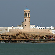 Oman, Sur. February/02/2008...The Sur lighthouse in the village of Ayjah.