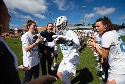 CHAPEL HILL, NC - MARCH 02: Taylor Moreno #30 of the North Carolina Tar Heels during a game against the Northwestern Wildcats on March 02, 2019 at the UNC Lacrosse and Soccer Stadium in Chapel Hill, North Carolina. North Carolina won 11-21. (Photo by Peyton Williams/US Lacrosse)