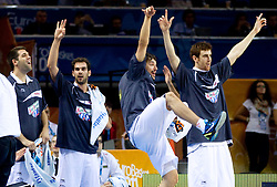 Players of Spain react during final basketball game between National basketball teams of Spain and France at FIBA Europe Eurobasket Lithuania 2011, on September 18, 2011, in Arena Zalgirio, Kaunas, Lithuania. (Photo by Vid Ponikvar / Sportida)