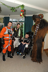 Star Wars, Rachel House, Kinross, 11-12-2016<br /> <br /> People dressed as Star Wars characters to visit children's hospice. Edinburgh 's Capital Sci-Fi Con organiser Keith Armour and other delegates to don costumes and visit children and their families at Rachel House.<br /> <br /> (c) David Wardle | Edinburgh Elite media