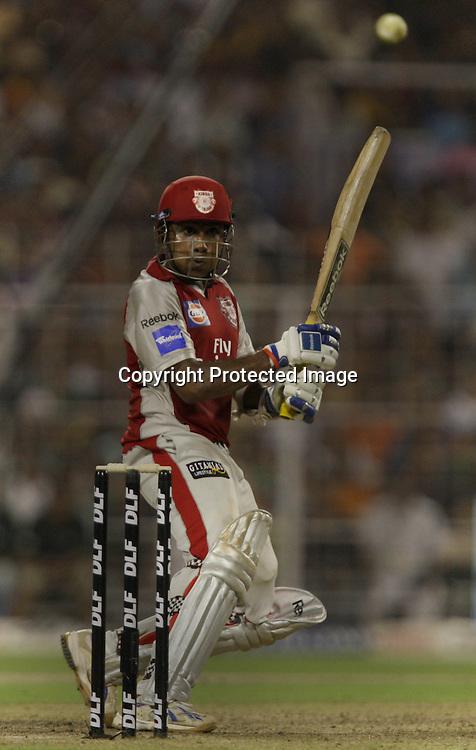 Kings XI Punjab Batsman Mahila Jayawrdhane  Hit The Shot Against Kolkata Knight Riders During The Kolkata Knight Riders vs Kings XI Punjab 34th match Twenty20 match   2009/10 season Played at Eden Gardens, Kolkata <br />4 April 2010 - day/night (20-over match)