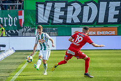 25.05.2019, Allianz Stadion, Wien, AUT, 1. FBL, SK Rapid Wien vs Cashpoint SCR Altach, Qualifikationsgruppe, 32. Spieltag, im Bild v.l. Stephan Auer (Rapid Wien), Emir Karic (SCR Altach) // during the tipico Bundesliga qualification group 32nd round match between SK Rapid Wien and Cashpoint SCR Altach at the Allianz Stadion in Wien, Austria on 2019/05/25. EXPA Pictures © 2019, PhotoCredit: EXPA/ Lukas Huter