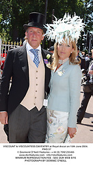 VISCOUNT & VISCOUNTESS DAVENTRY at Royal Ascot on 15th June 2004.<br /> PWD 37