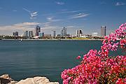 Waterfront View Of Downtown Long Beach California