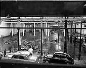 1959 - Pictures of the interior of Ballsbridge Motors, Shelbourne Road,  before renovations